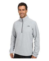 The North Face - Gray Texture Cap Rock 1/4 Zip for Men - Lyst