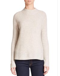VINCE | Natural Directional Rib Cashmere Sweater | Lyst