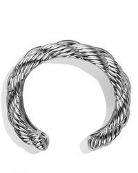 David Yurman - Metallic Woven Cable Wide Cuff - Lyst