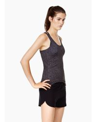 Mango - Gray Fitness & Running - Technical Racerback T-shirt - Lyst