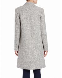 Zac Zac Posen - Gray Single-breasted Wool-blend Coat - Lyst