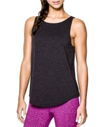 Under Armour | Black Crossover Tank | Lyst