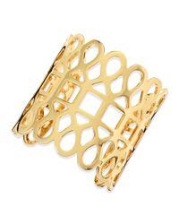 Tory Burch | Metallic 16K Gold-Plated Lace Cuff | Lyst