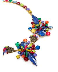 Erickson Beamon - Multicolor 'splash' Crystal Flower Necklace - Lyst