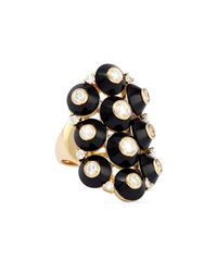Maria Canale For Forevermark - Metallic 18k Pyramide Onyx & Diamond Cluster Ring - Lyst