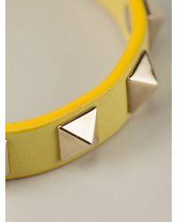 Valentino - Yellow Rockstud Bracelet - Lyst