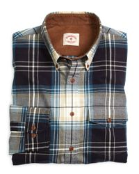 Brooks Brothers - Blue Plaid Flannel Sport Shirt for Men - Lyst