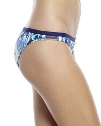 BCBGeneration - Blue I'M A Mesh For You Cropped Rashguard Top & Bikini Bottom - Lyst