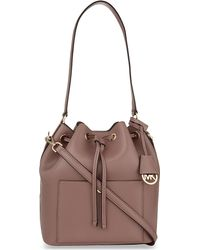 MICHAEL Michael Kors | Purple Greenwich Large Saffiano Leather Bucket Bag | Lyst
