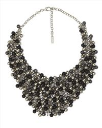 Jaeger | Metallic Beaded Bib Necklace | Lyst