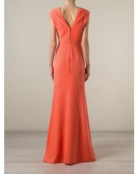 Roland Mouret | Orange 'Wistow' Evening Gown | Lyst