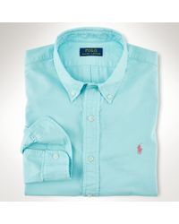 Polo Ralph Lauren | Blue Slim-fit Cotton Oxford Shirt for Men | Lyst