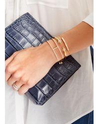 Monica Vinader | Metallic Linear 18kt Gold-plated Bracelet | Lyst