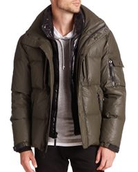 Sam. | Green Thompson Coated Down Puffer Jacket for Men | Lyst