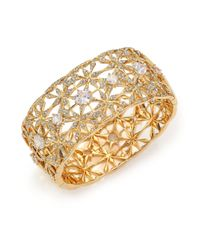 Adriana Orsini | Metallic Kaleidoscope Pavé Wide Bangle Bracelet | Lyst