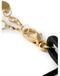 Versus | Black Lion Gold Medal Short Necklace | Lyst