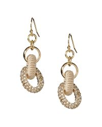Banana Republic - Metallic Wrapped Links Drop Earring Natural - Lyst