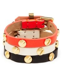 Marc By Marc Jacobs - Black Screw Leather Bracelet - Lyst