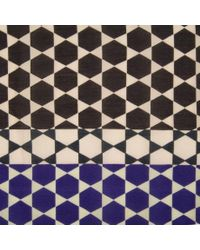 Paul Smith - Black 'Moroccan Tile' Print Silk-Blend Scarf for Men - Lyst