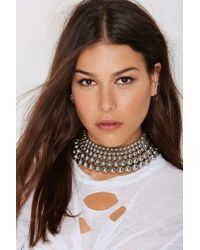 Nasty Gal - Gray In Your Court Ball Choker - Lyst