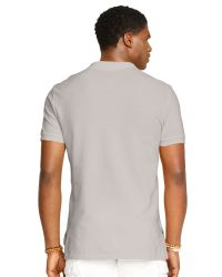 Polo Ralph Lauren - Gray Custom Fit Mesh Polo Shirt for Men - Lyst