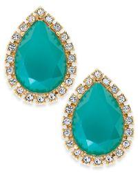 kate spade new york | Blue Gold-tone Green Balloon Stud Earrings | Lyst