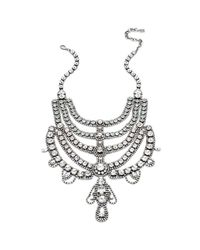DANNIJO - Metallic Margaux Crystal Bib Necklace - Lyst