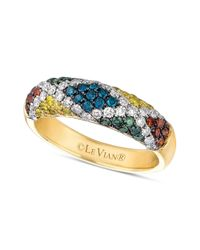 Le Vian | Yellow Mixberry Diamond Patterned Skinny Ring 910 Ct Tw in 14k Honey Gold | Lyst