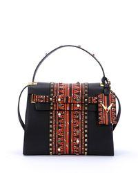 Valentino | Black My Rockstud Medium Painted Satchel Bag | Lyst