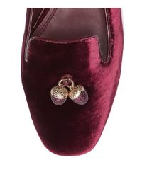 Tory Burch - Red Acorn Charm Smoking Slipper - Lyst