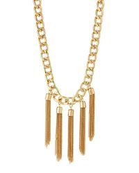 Lydell NYC | Metallic Golden Curb Chain Tassel Necklace | Lyst