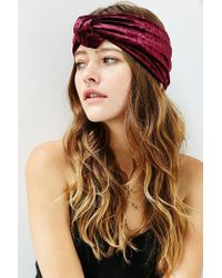 Urban Outfitters - Purple Carmen Knotted Wide Headwrap - Lyst