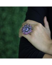 Wendy Yue - Purple Tanzanite Flower Ring - Lyst