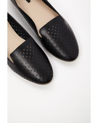 Forever 21 - Black Perforated Faux Leather Loafers - Lyst