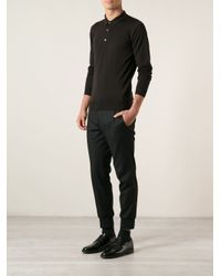 John Smedley - Brown Fitted Polo Shirt for Men - Lyst