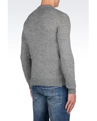 Armani Jeans - Gray Crewneck Sweater for Men - Lyst