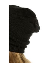 1717 Olive - Black Purl Knit Slouch Beanie - Mushroom - Lyst