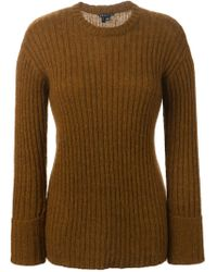 Theory - Brown 'diantha' Sweater - Lyst