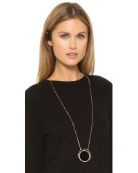 kate spade new york - Black In The Spotlight Long Pendant Necklace - Lyst