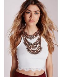 Missguided | Metallic Premium Statement Necklace | Lyst