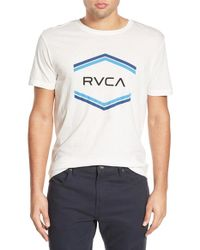 RVCA - Natural 'double Hex' Graphic Crewneck T-shirt for Men - Lyst