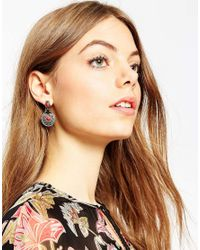 ASOS | Red Traveller Earrings | Lyst