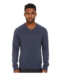 Original Penguin - Blue Long Sleeve Raglan Jersey V-neck W/ Raglan for Men - Lyst