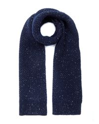 Oliver Spencer | Blue Navy Textured Dongle Wool Scarf for Men | Lyst