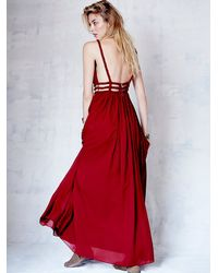 Free People - Red Womens Cassandra Maxi - Lyst