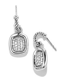 David Yurman | Metallic Labyrinth Drop Earrings With Diamonds | Lyst