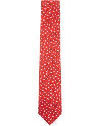 Ferragamo - Orange Floating Butterflies Tie for Men - Lyst