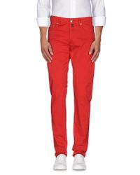 Pt05 - Red Casual Trouser for Men - Lyst