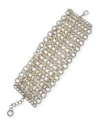 R.j. Graziano - Metallic Mtte Chain Flatline Bracelet - Lyst