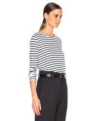 Étoile Isabel Marant | White Karon Striped Long Sleeve Tee | Lyst